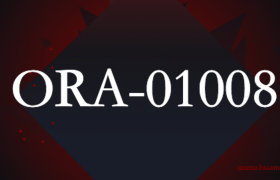 ORA-01008: 并非所有变量都已绑定( PL/SQL ORA-01008 : Not all variables bound)